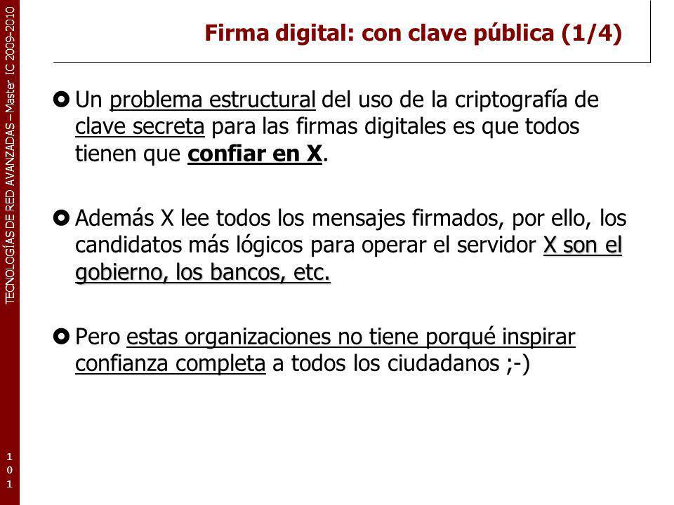 Firma digital: con clave pública (1/4)