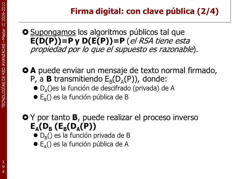 Firma digital: con clave pública (2/4)