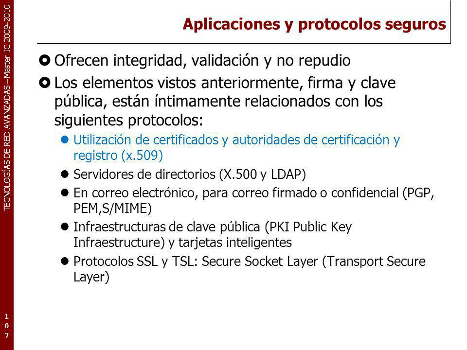 Aplicaciones y protocolos seguros