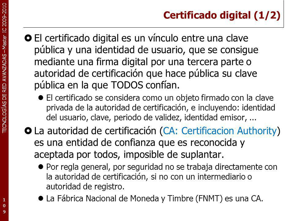 Certificado digital (1/2)