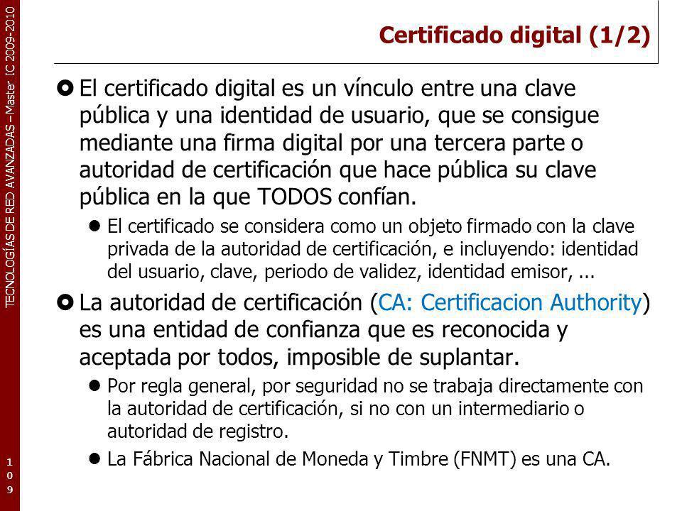 Certificado digital (1/2)