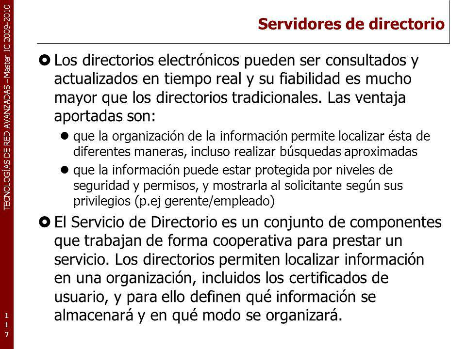 Servidores de directorio