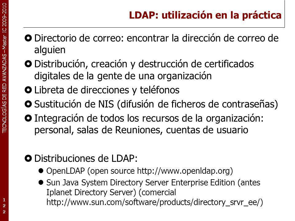 LDAP: utilización en la práctica