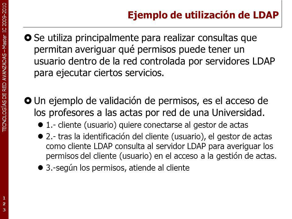 Ejemplo de utilización de LDAP