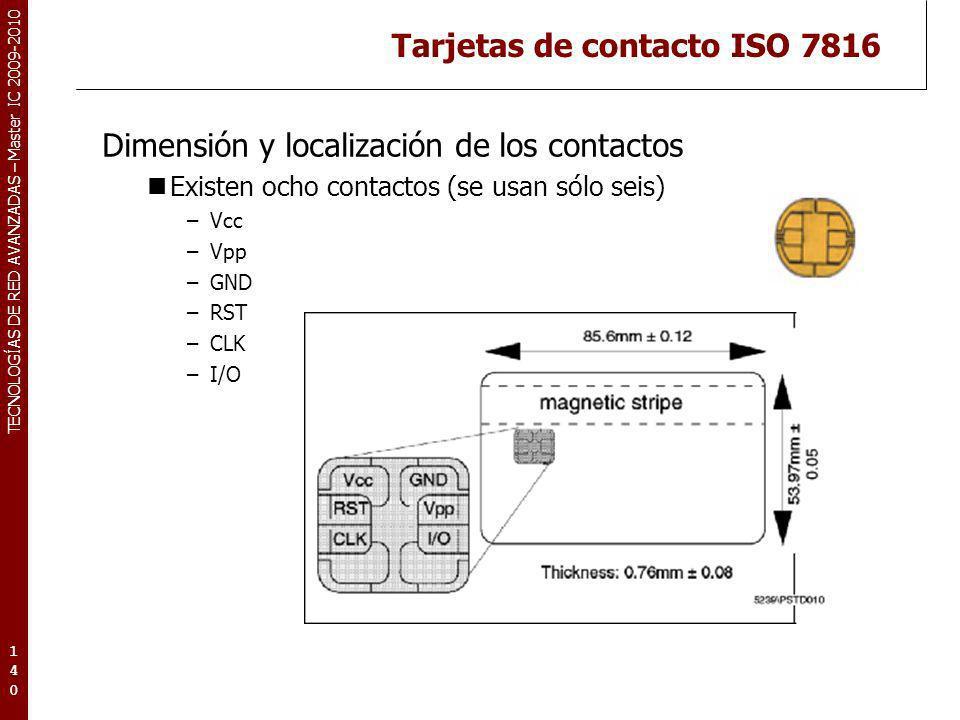 Tarjetas de contacto ISO 7816
