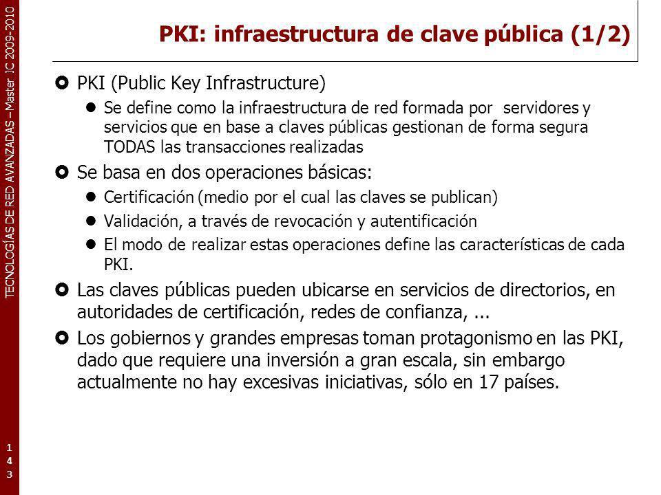 PKI: infraestructura de clave pública (1/2)