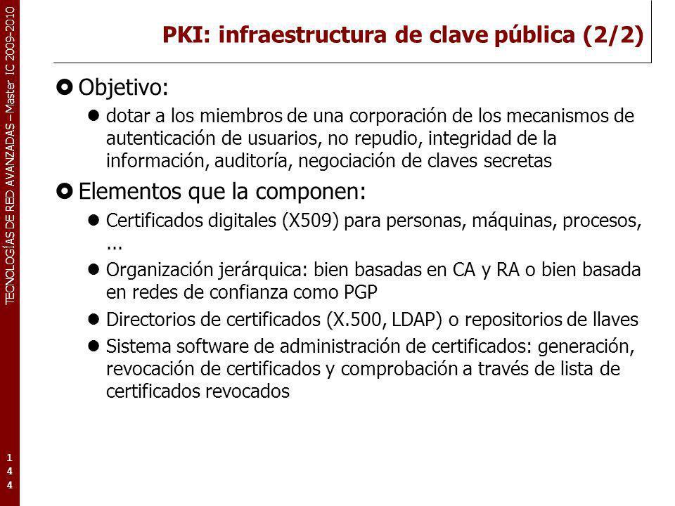 PKI: infraestructura de clave pública (2/2)