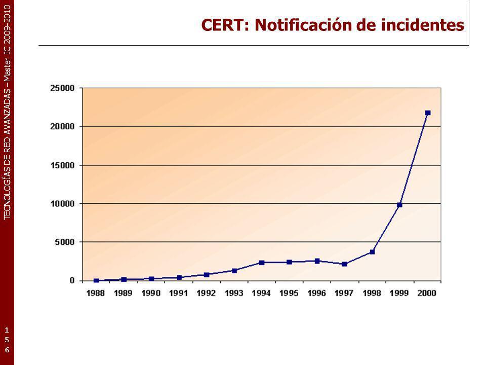 CERT: Notificación de incidentes