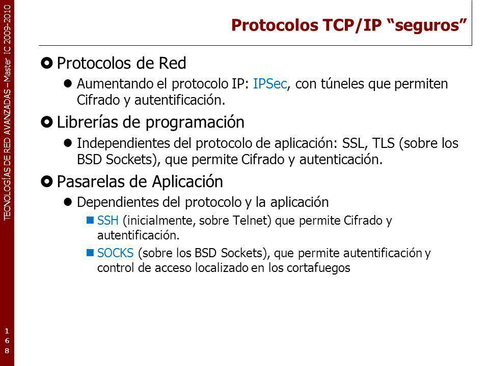Protocolos TCP/IP seguros