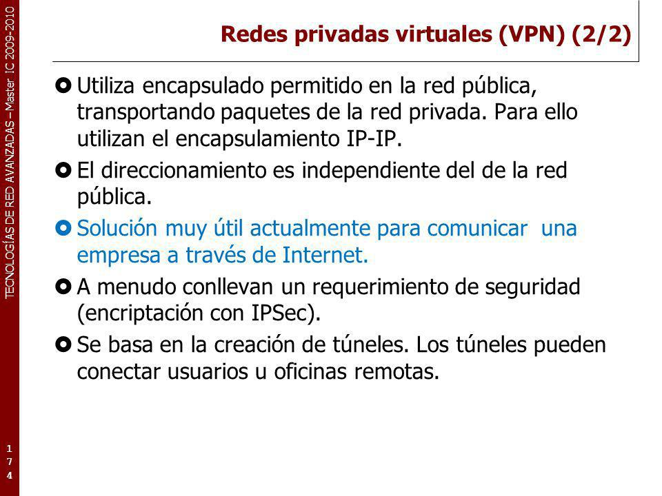 Redes privadas virtuales (VPN) (2/2)