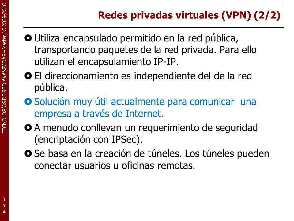 Redes privadas virtuales (VPN) (2/2)