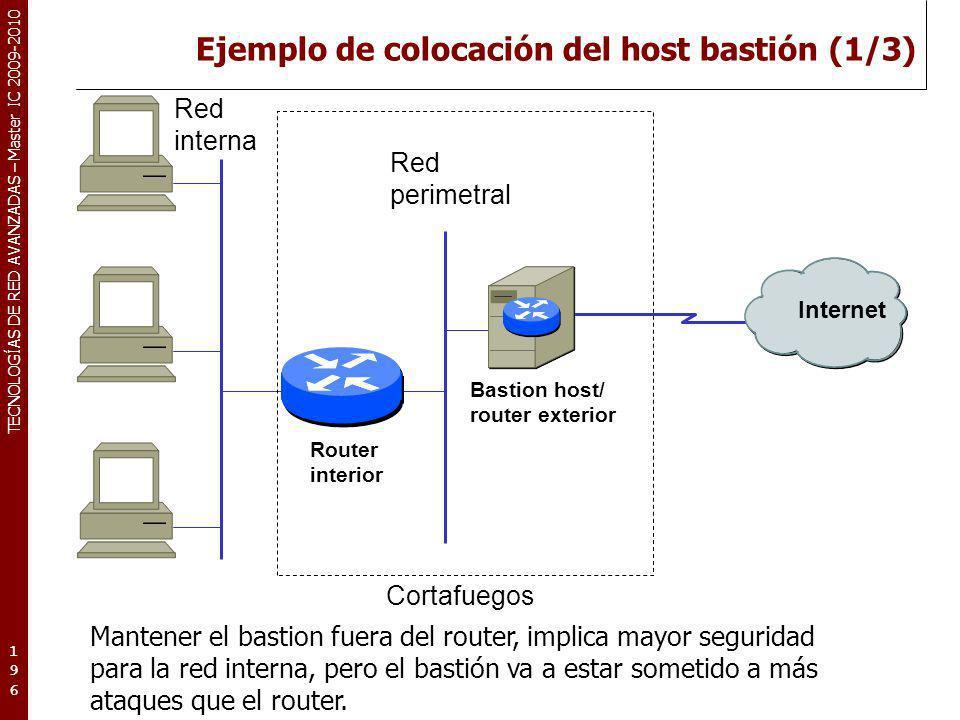 Ejemplo de colocación del host bastión (1/3)