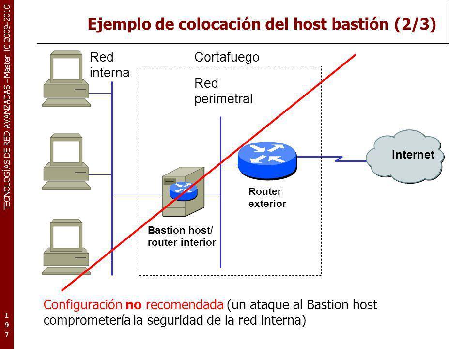 Ejemplo de colocación del host bastión (2/3)