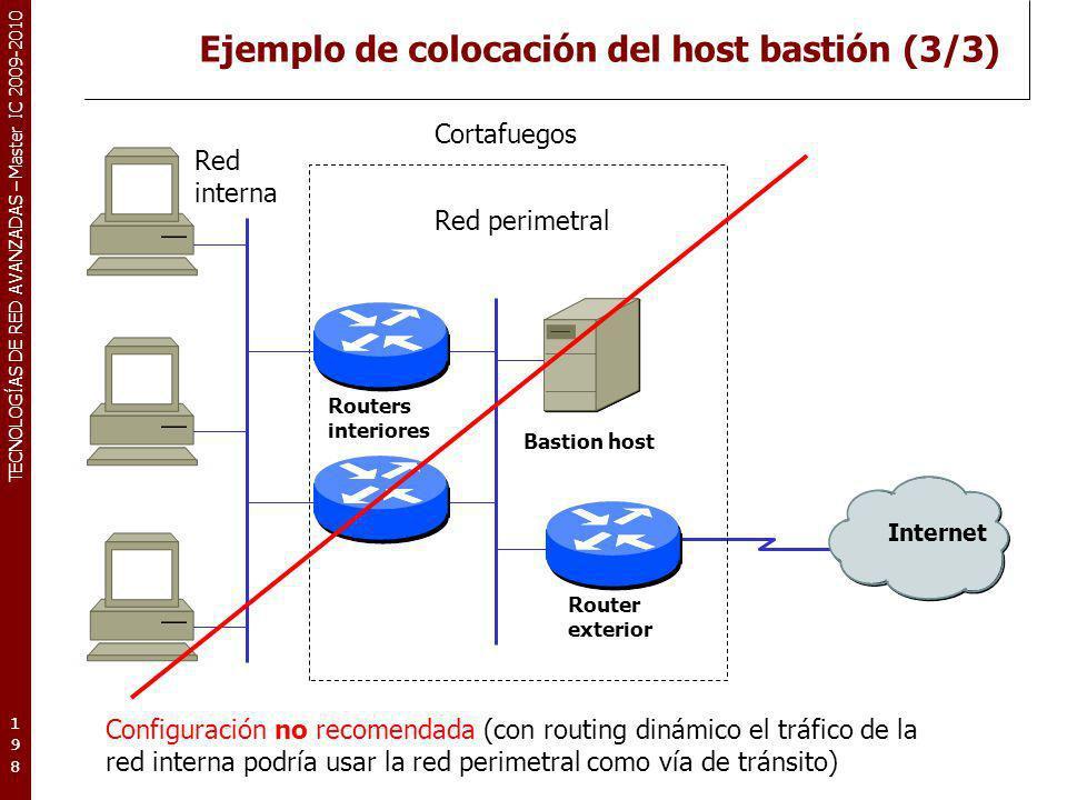 Ejemplo de colocación del host bastión (3/3)