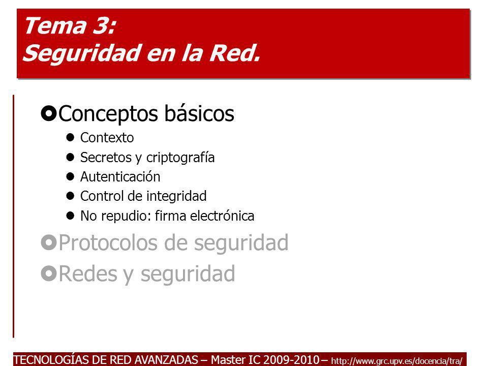 Tema 3: Seguridad en la Red.