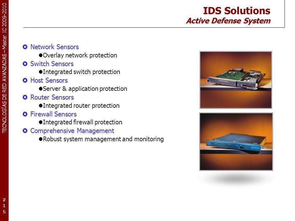 IDS Solutions Active Defense System