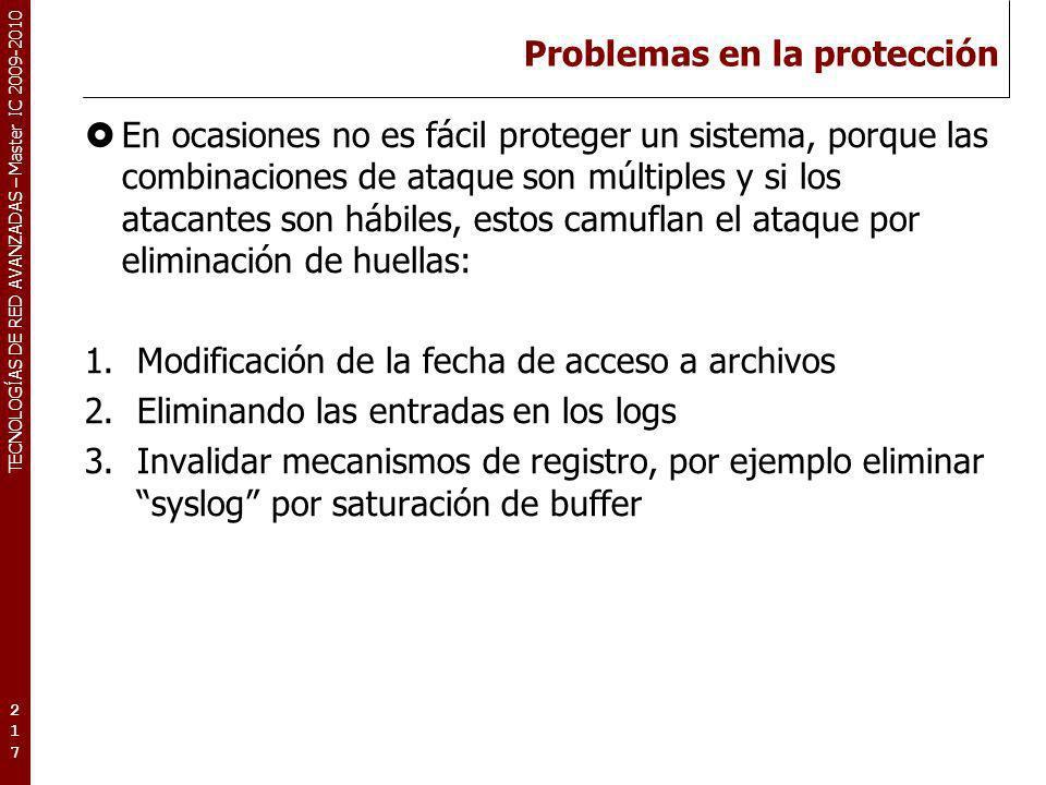 Problemas en la protección