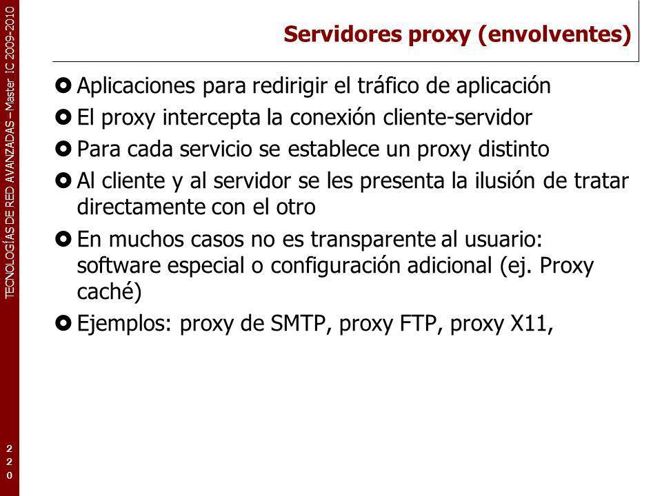 Servidores proxy (envolventes)