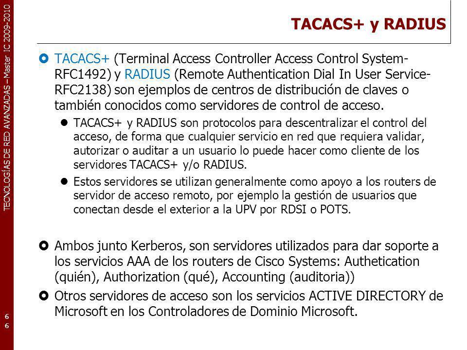 TACACS+ y RADIUS