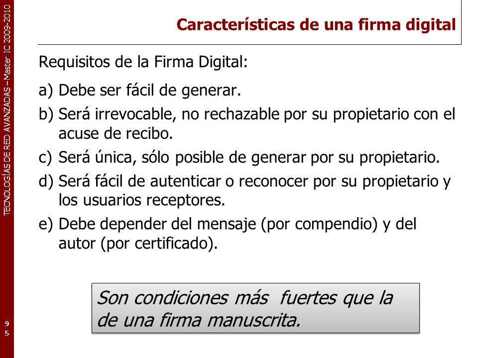 Características de una firma digital
