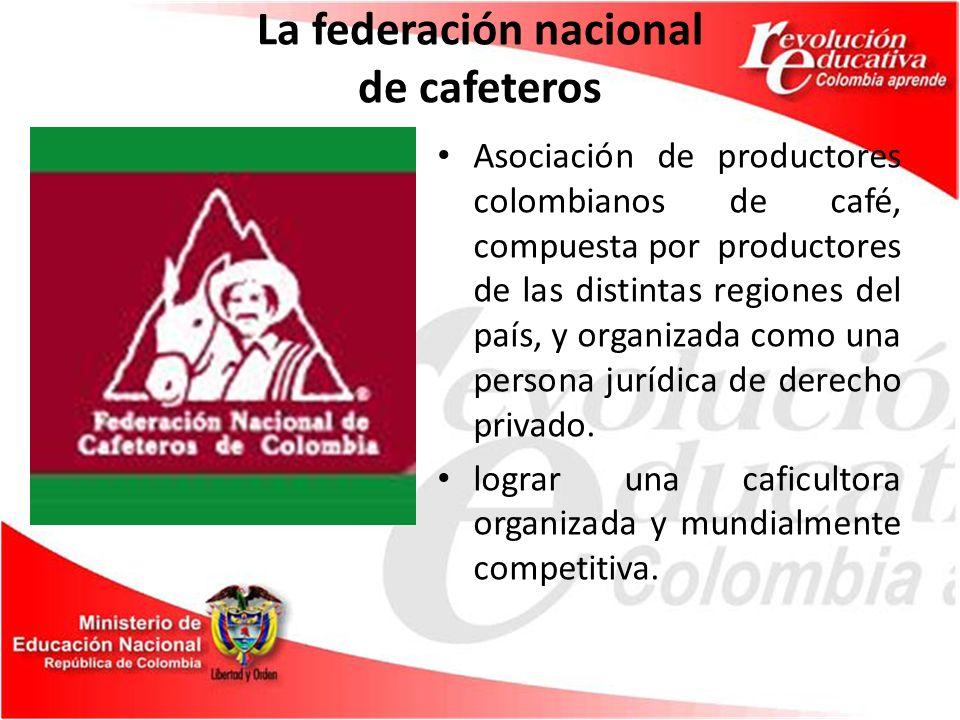 La federación nacional de cafeteros