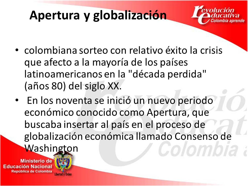 Apertura y globalización