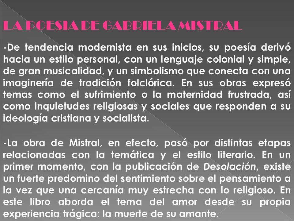 LA POESIA DE GABRIELA MISTRAL