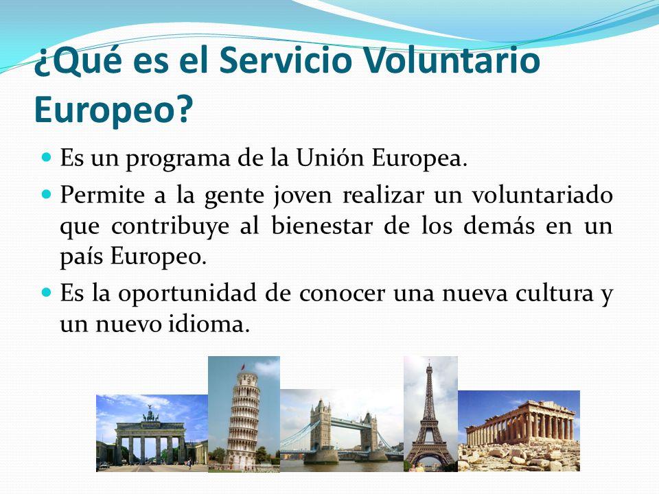 ¿Qué es el Servicio Voluntario Europeo