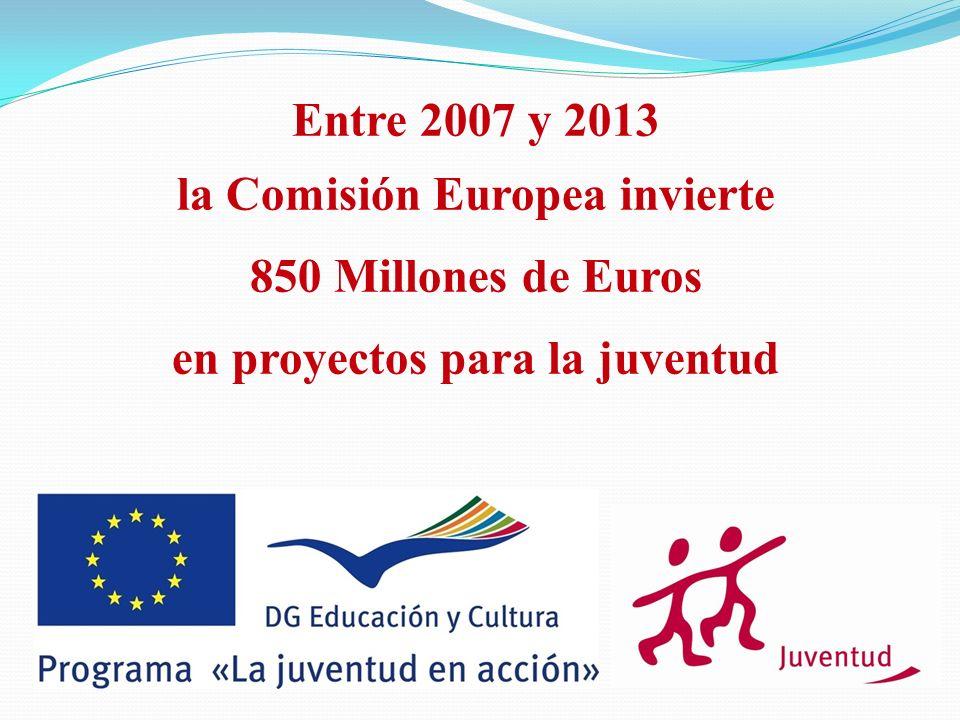 la Comisión Europea invierte en proyectos para la juventud