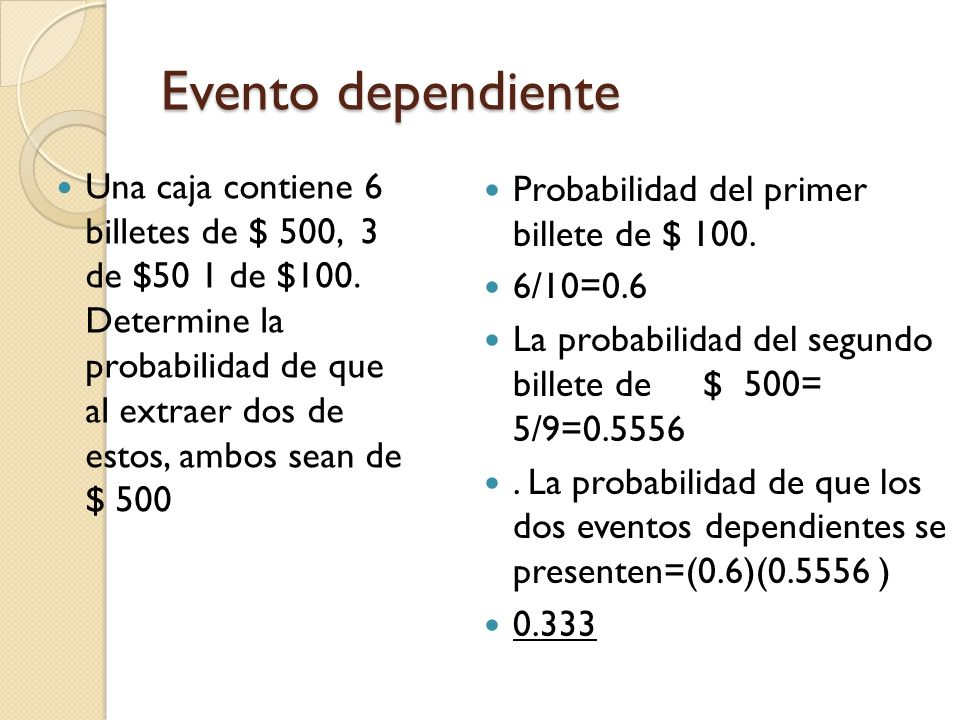 Evento dependiente