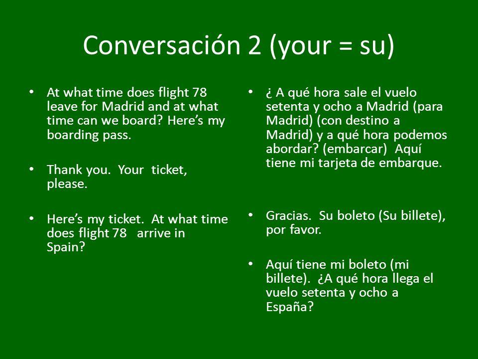 Conversación 2 (your = su)
