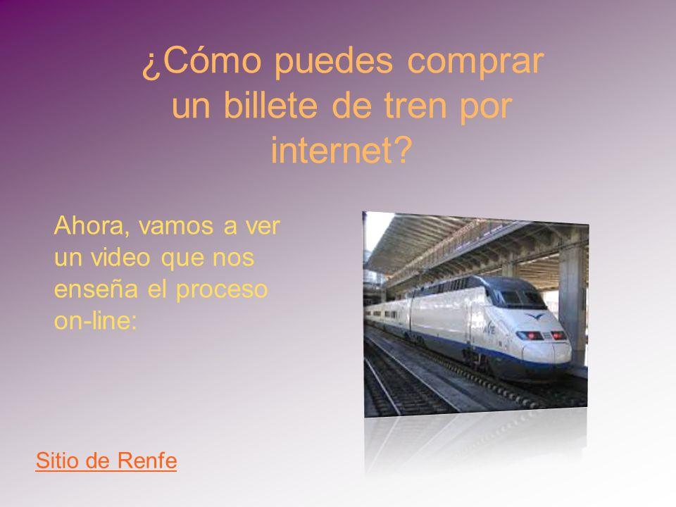 ¿Cómo puedes comprar un billete de tren por internet