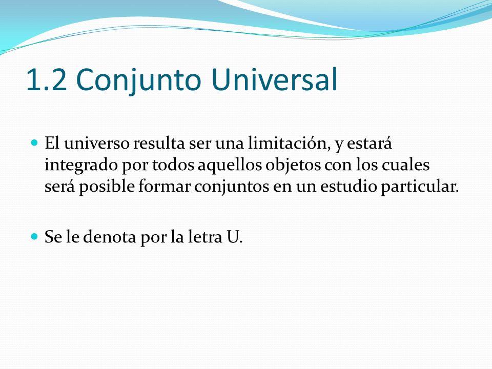 1.2 Conjunto Universal