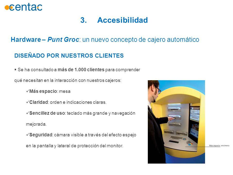 3. Accesibilidad Hardware – Punt Groc: un nuevo concepto de cajero automático. DISEÑADO POR NUESTROS CLIENTES.
