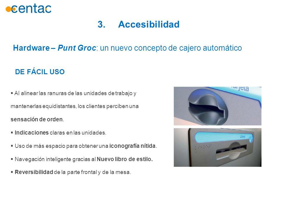 3. Accesibilidad Hardware – Punt Groc: un nuevo concepto de cajero automático. DE FÁCIL USO.