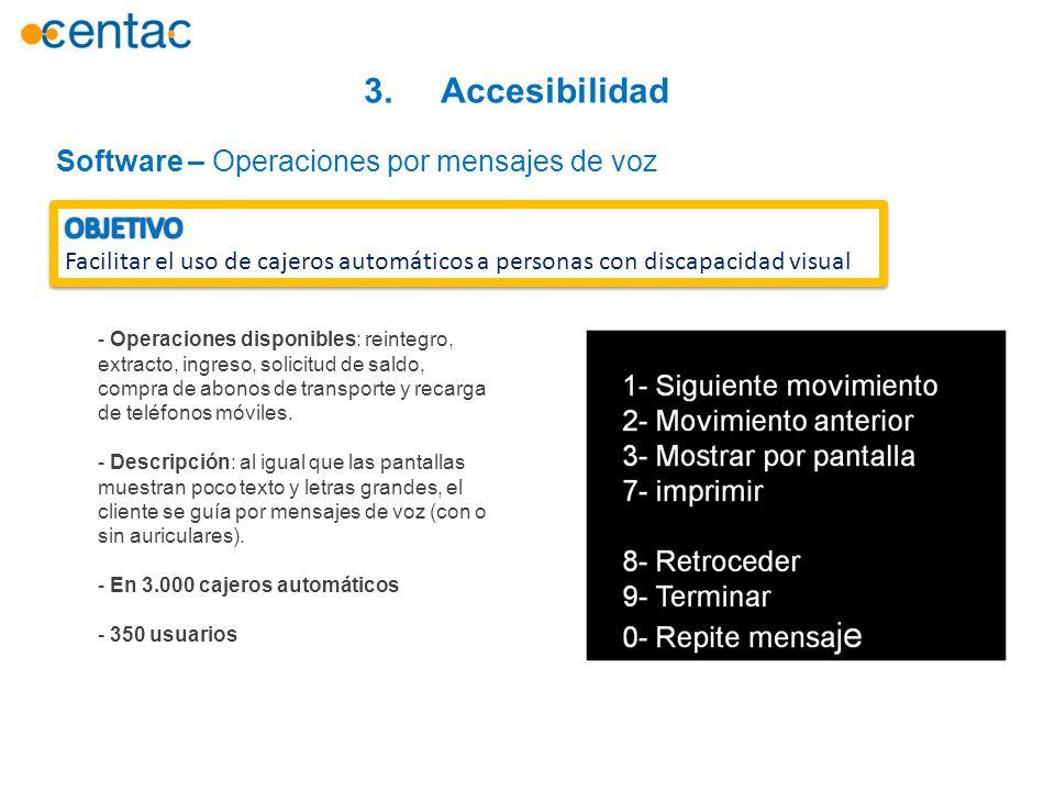 3. Accesibilidad Software – Operaciones por mensajes de voz OBJETIVO