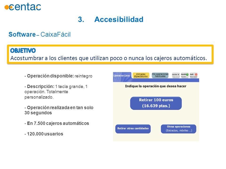 3. Accesibilidad Software – CaixaFácil OBJETIVO