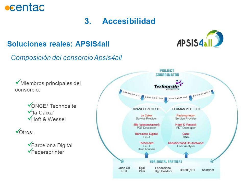 3. Accesibilidad Soluciones reales: APSIS4all