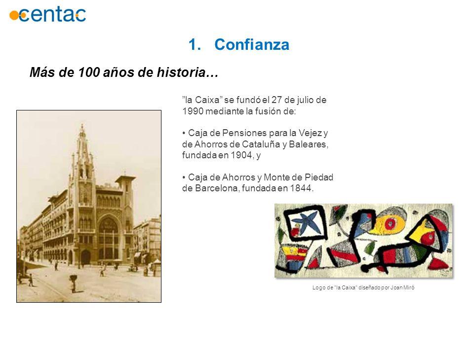 1. Confianza Más de 100 años de historia…