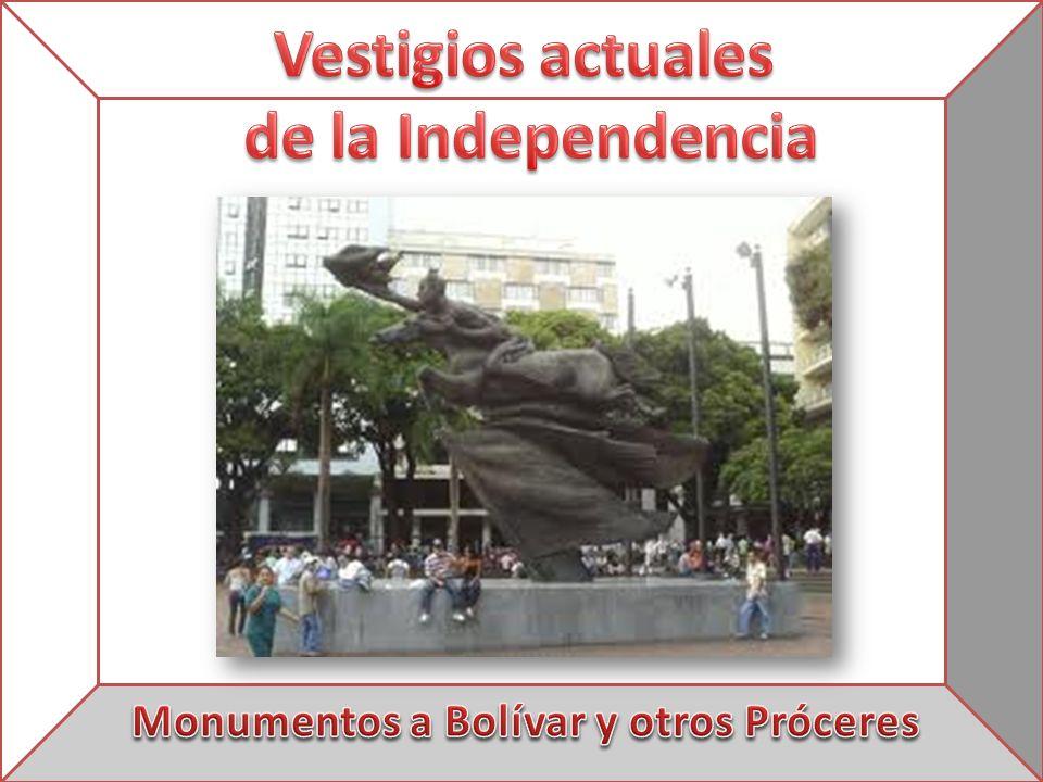 Monumentos a Bolívar y otros Próceres
