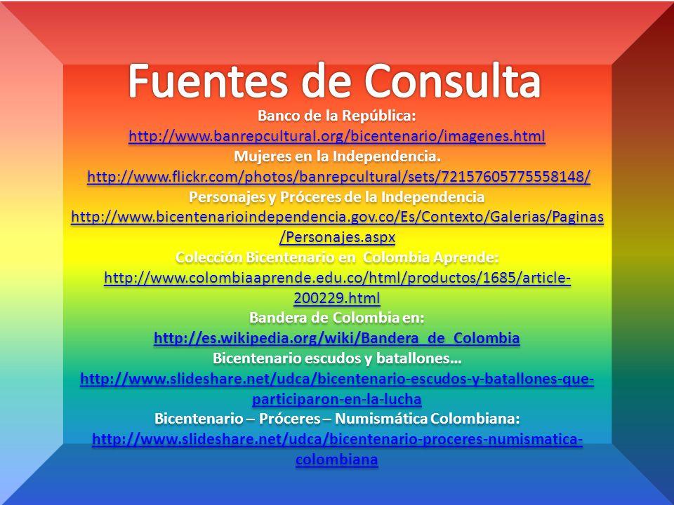 Fuentes de Consulta Banco de la República: