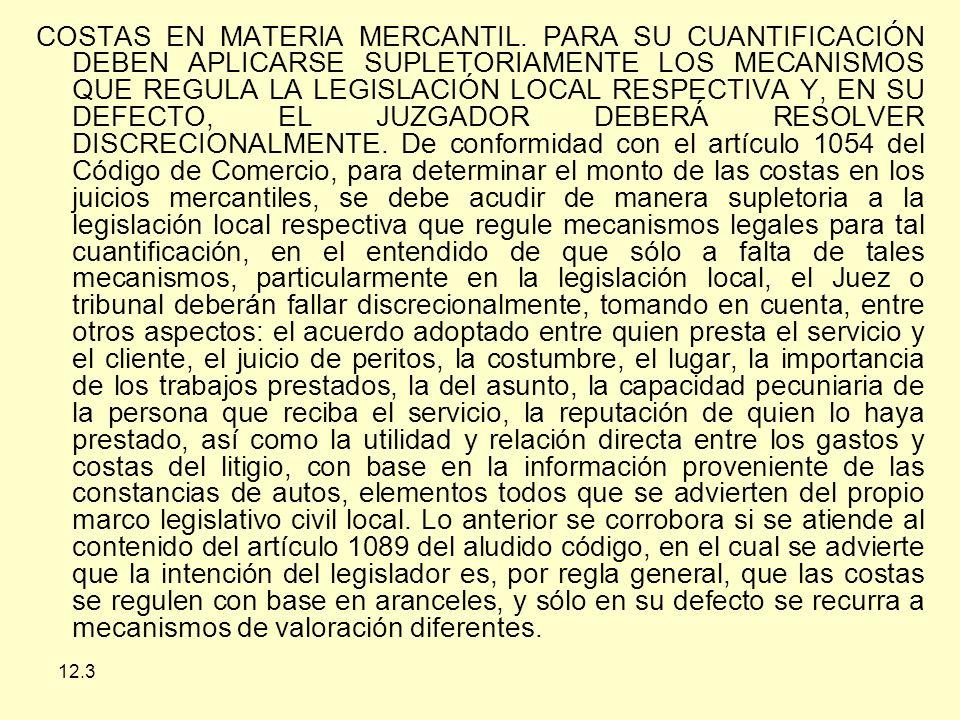 COSTAS EN MATERIA MERCANTIL