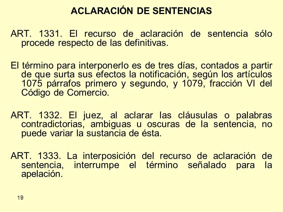 ACLARACIÓN DE SENTENCIAS