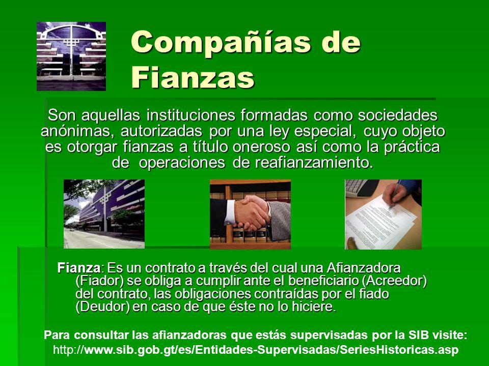 Compañías de Fianzas