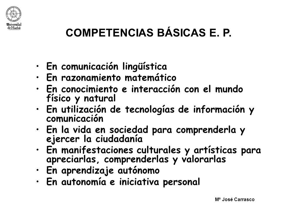 COMPETENCIAS BÁSICAS E. P.
