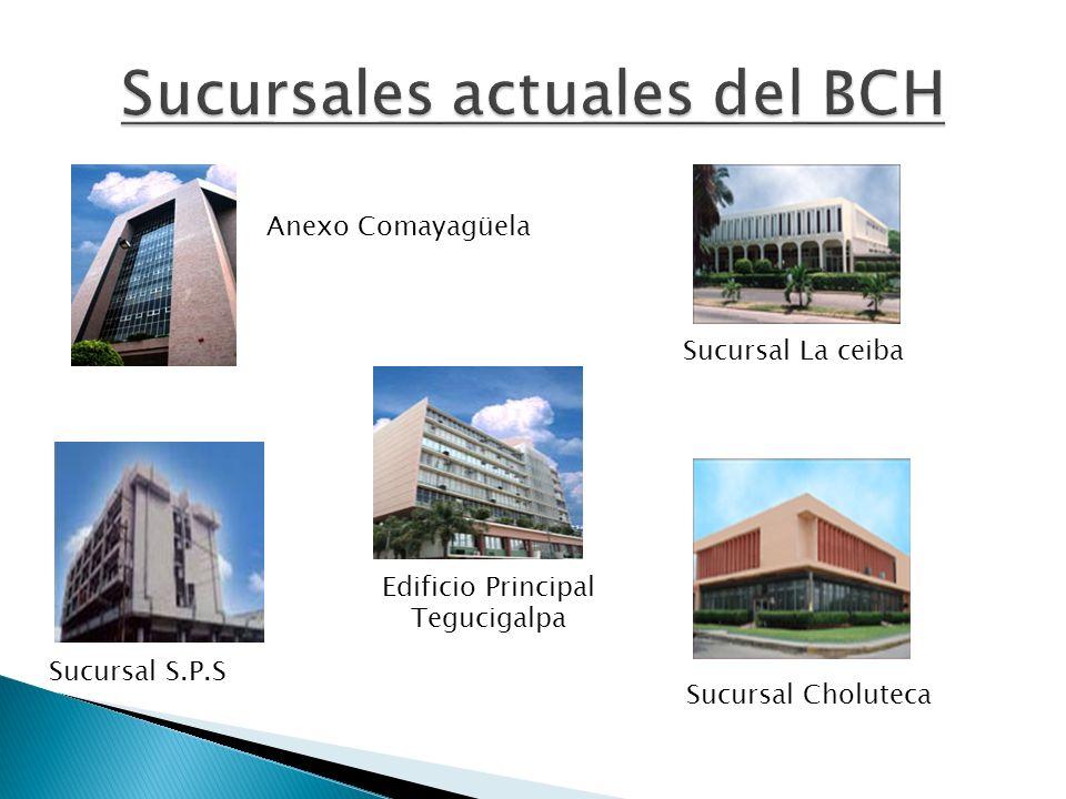 Sucursales actuales del BCH