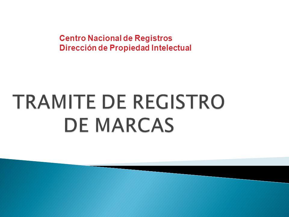 TRAMITE DE REGISTRO DE MARCAS