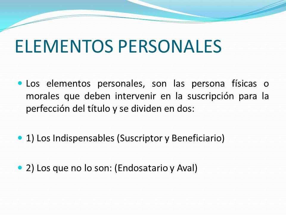 ELEMENTOS PERSONALES