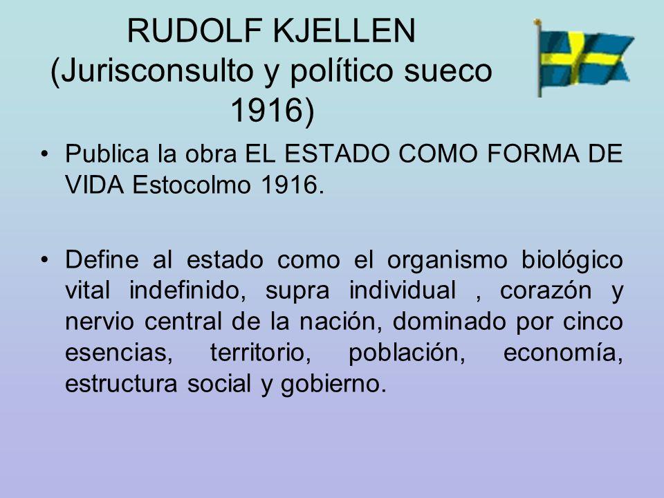 RUDOLF KJELLEN (Jurisconsulto y político sueco 1916)