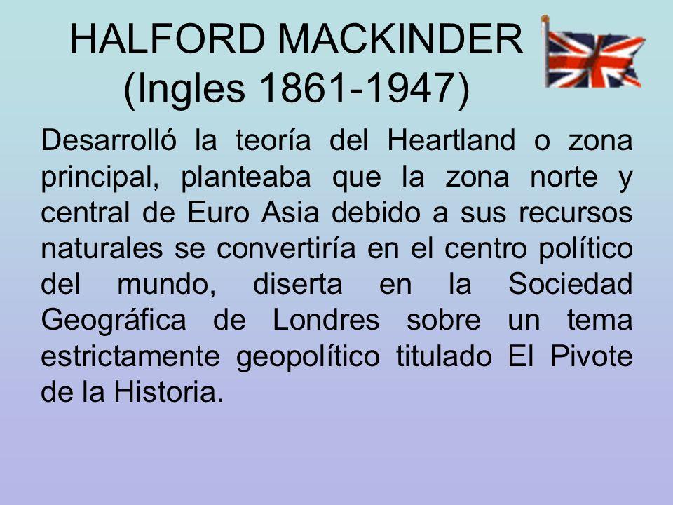 HALFORD MACKINDER (Ingles 1861-1947)